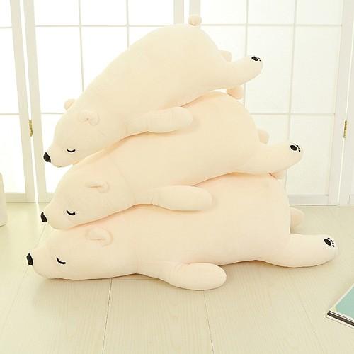 北极熊毛绒玩具 大号熊抱枕公仔趴趴熊儿童玩偶 女生生日礼物包邮_图2