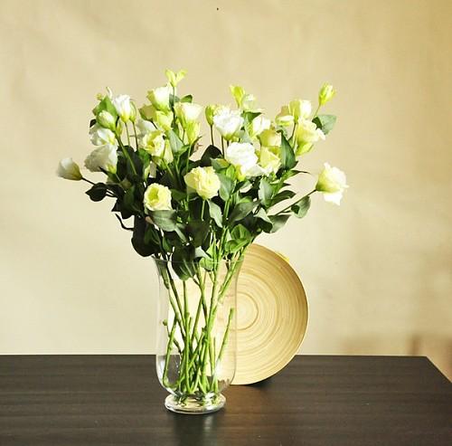 10枝包邮 特惠  一见倾心  古典淡然桔梗花 仿真花 绢花 F063_图1