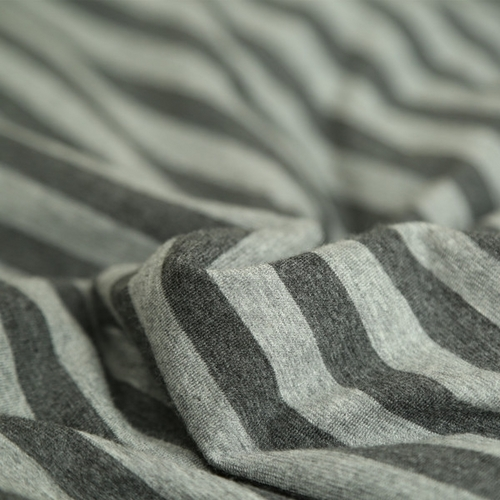 良品天竺棉针织四件套 简约全棉条纹被套床单4件套纯棉裸睡床品_图5