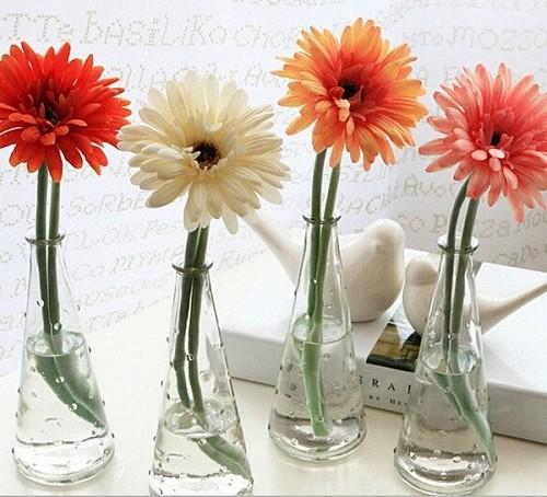 新款宜家纳迪时尚玻璃花瓶水培花瓶雨点花瓶窗台摆设 三件包邮_图2