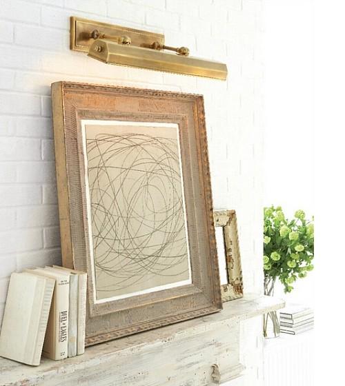 美国visual comfort artemis home可调节镜前灯现代美式画框灯_图1