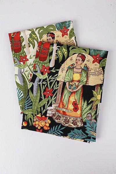 欧美复古风手工diy布料面料 弹力斜纹印花府绸 弗里达花园 半米价_图2