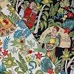 欧美复古风手工diy布料面料 弹力斜纹印花府绸 弗里达花园 半米价