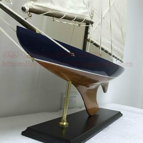 地中海风格 现代帆船 90CM美式帆船模型 商务礼品  高档摆件_图3