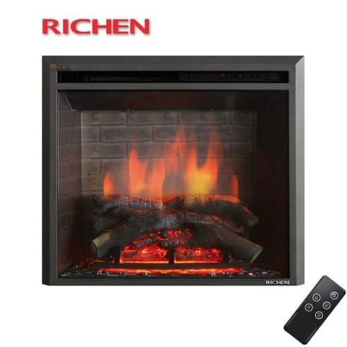 RICHEN丽辰 欧式电壁炉取暖器 电壁炉炉芯遥控 特价 威斯特_图4