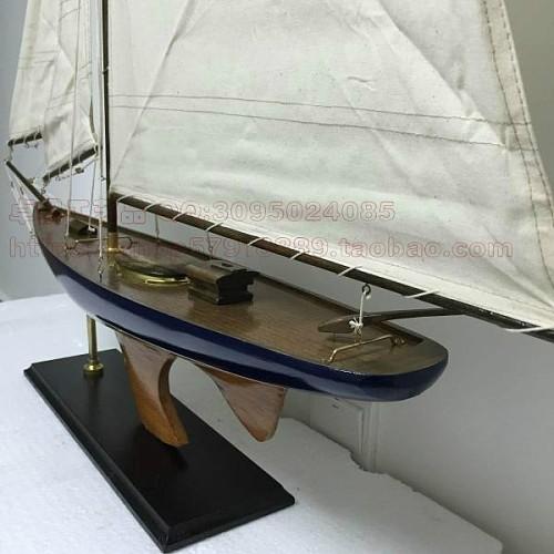 地中海风格 现代帆船 90CM美式帆船模型 商务礼品  高档摆件_图4