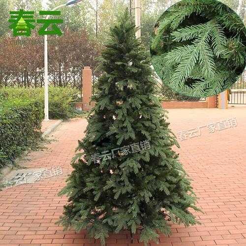 1.8米PE+PVC美版圣诞树 圣诞树装饰品 厂家直销 高档仿真圣诞树_图1