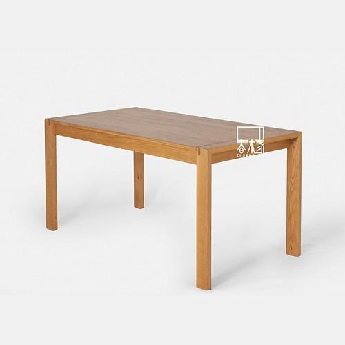 【春沐家】原创设计 白橡餐桌 橡木餐桌 工作台 黑胡桃实木餐桌_图3