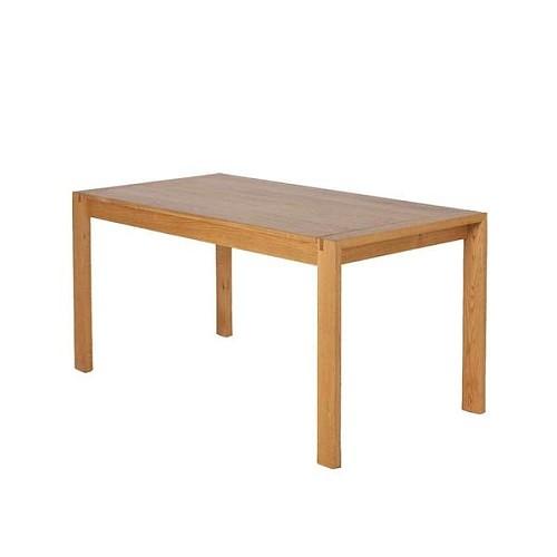 【春沐家】原创设计 白橡餐桌 橡木餐桌 工作台 黑胡桃实木餐桌_图5