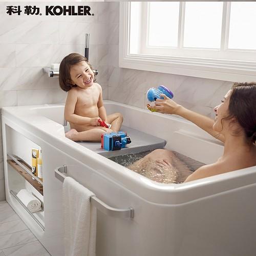 科勒新款浴缸 希尔维系列1.5米整体化浴缸K-99017T/99018T_图2