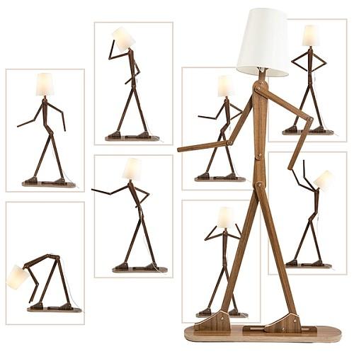 北欧人形立灯落地灯客厅创意 个性装饰儿童房卡通立式台灯坐地灯_图2