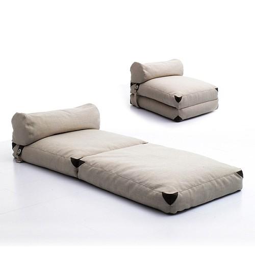 lazylife简约日式懒人沙发榻榻米可折叠沙发床布艺沙发单人小沙发_图2