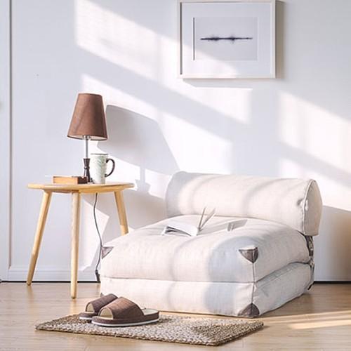 lazylife简约日式懒人沙发榻榻米可折叠沙发床布艺沙发单人小沙发_图1