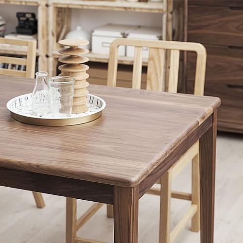 【厌式房间】好人桌 原木实木书桌会议桌餐桌白蜡黑胡桃 独立设计_图4