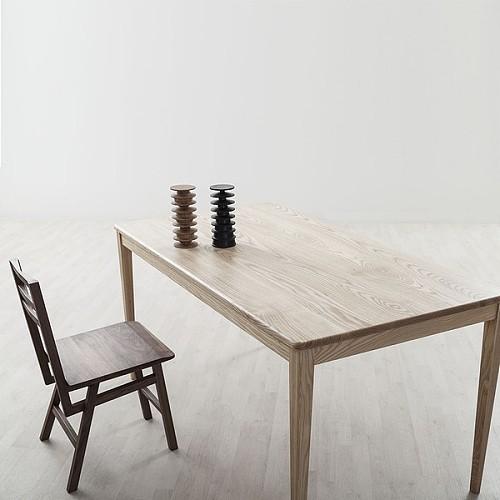 【厌式房间】好人桌 原木实木书桌会议桌餐桌白蜡黑胡桃 独立设计_图3