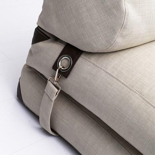 lazylife简约日式懒人沙发榻榻米可折叠沙发床布艺沙发单人小沙发_图4