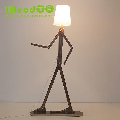 北欧人形立灯落地灯客厅创意 个性装饰儿童房卡通立式台灯坐地灯_图4