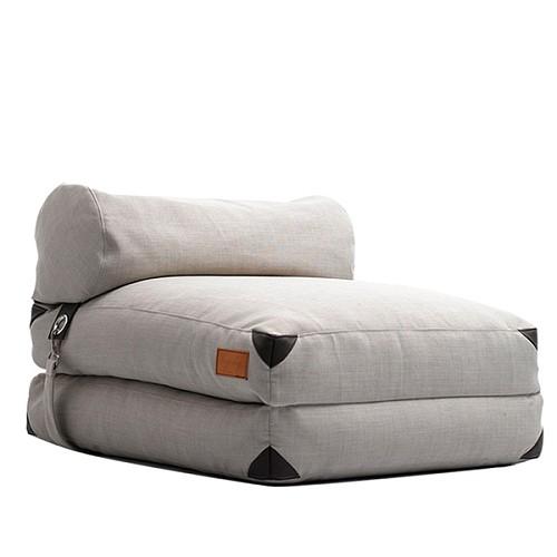 lazylife简约日式懒人沙发榻榻米可折叠沙发床布艺沙发单人小沙发_图5