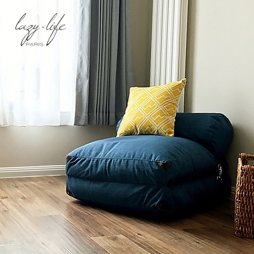 lazylife简约日式懒人沙发榻榻米可折叠沙发床布艺沙发单人小沙发_图3