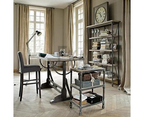 美式书画桌绘图桌书法办公桌设计师桌子画架实木工作台绘画桌画案_图4