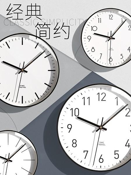 墨上花开艺术挂钟北欧客厅个性创意时尚钟表现代简约大气家用时钟_图4