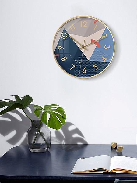 墨上花开艺术挂钟北欧客厅个性创意时尚钟表现代简约大气家用时钟_图5