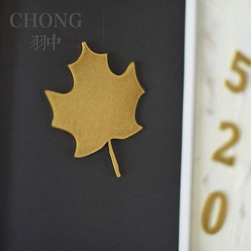 chong翀 黄铜装饰字 墙贴 门贴 数字字母中文图案 可定制_图2